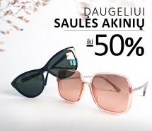Saulės akinių išpardavimas