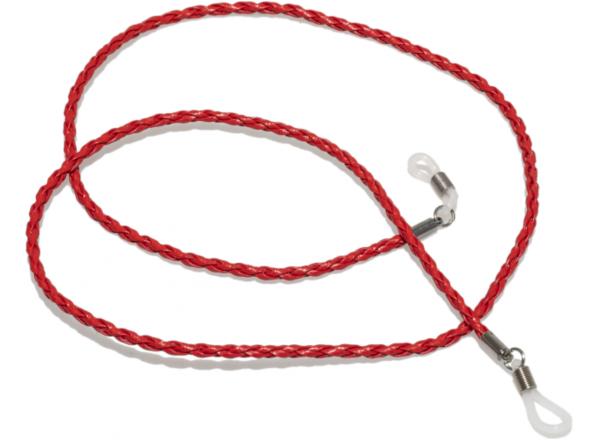 Akinių grandinėlė Le Specs RED LEATHER (odinė)