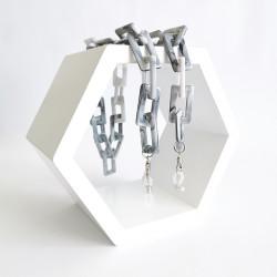 Akinių grandinėlė INVU marble grey (30384)