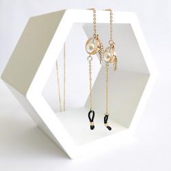 Akinių grandinėlė INVU gold pearl (30388)